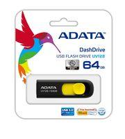 USB Flash Drive 64Gb A-Data UV128 USB 3.0 (Black / Yellow)