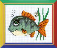 """Вышивка крестом """"Рыбка с улыбкой"""""""