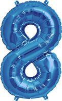 """Воздушный шар """"Цифра 8"""" (синий)"""