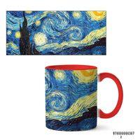 """Кружка """"Ван Гог. Звездная ночь"""" (арт. 387, красная)"""