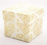 """Подарочная коробка """"Hearts and Butterflies"""" (7,5x7,5x7,5 см; золотые элементы)"""
