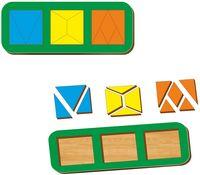 "Рамка-вкладыш ""Сложи квадрат"" (3 квадрата; уровень 2)"