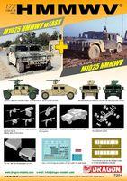 "Армейский вездеход ""HMMWV M1025 & M1025 w/ASK Twin Pack"" (масштаб: 1/72)"