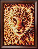 """Алмазная вышивка-мозаика """"Огненный леопард"""" (300х400 мм)"""