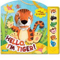 Привет, я тигренок! Кто в книжке живет? Книжка-игрушка