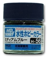 Краска Aqueous Hobby Color водоразбавляемая (intermediate blue, H-56)