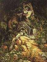 """Картина по номерам """"Волки на отдыхе"""" (400x500 мм)"""