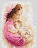"""Вышивка крестом """"Мать и дитя"""" (210х270 мм)"""