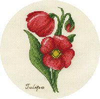 """Вышивка крестом """"Букетик тюльпанов"""" (130х170 мм)"""