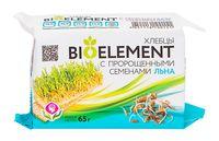 """Хлебцы """"Bio Element. С пророщенными семенами льна"""" (65 г)"""