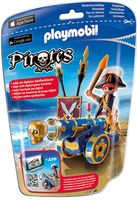 """Игровой набор """"Синяя интерактивная пушка с офицером пиратов"""""""