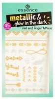 "Наклейки-тату для дизайна ногтей и рук ""Metallic and Glow in the Dark"" (тон: 01)"