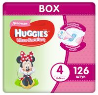 "Подгузники ""Ultra Comfort. Disney Box. Girl 4"" (8-14 кг; 126 шт.)"