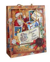"Пакет бумажный подарочный ""Подарок от Деда Мороза"" (26х32х10 см; арт. 10444350)"