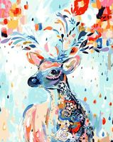 "Картина по номерам ""Лань в цветах"" (400х500 мм)"