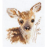 """Вышивка крестом """"Животные в портретах. Олененок"""" (70х80 мм)"""