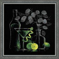 """Вышивка крестом """"Натюрморт с мартини"""" (арт. 1240)"""