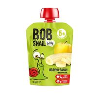 """Пюре детское """"Bob Snail. Яблоко-Банан"""" (90 г)"""