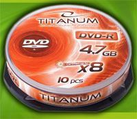Диск DVD-R 4.7Gb 8x Esperanza Titanum CakeBox 10