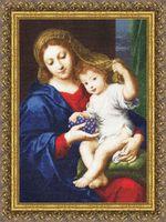 "Вышивка крестом ""Мадонна с виноградом"" (474х331 мм)"