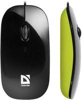 Мышь Defender NetSprinter MM-440 (черно-зеленая)