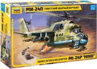 Советский ударный вертолёт МИ-24П (масштаб: 1/72)