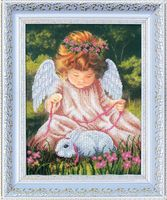 """Вышивка бисером """"Ангел с кроликом"""" (245х325 мм)"""