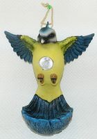 """Статуэтка пластмассовая с лампой на солнечной батарее, с кормушкой для птиц """"Синица"""" (23,5*16*26 см, арт. 4400069)"""