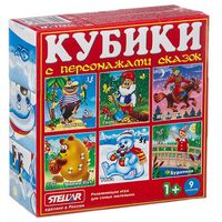 "Кубики с картинками ""Персонажи сказок-3"" (9 шт)"