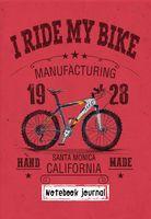 """Блокнот """"I ride my bike. Красный"""" (А5)"""
