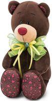 """Мягкая игрушка """"Медведь Choco. Зелёный бант"""" (20 см)"""