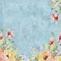 """Бумага для скрапбукинга """"Нежный букет. Голубые цветы"""" (310х310 мм; 12 листов)"""