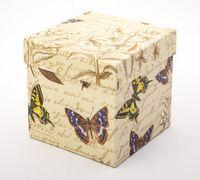 "Подарочная коробка ""Botanic and Butterflies"" (11х11х11 см)"