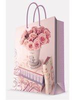 """Пакет бумажный подарочный """"Ваза с розами"""" (11х13,7х6,2 см; арт. 44170)"""