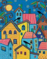 "Картина по номерам ""Карла Жерар. Сказочные домики"" (400х500 мм)"