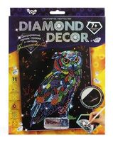 "Аппликация из страз ""Diamond decor. Сова"""