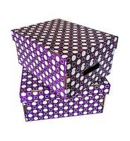 "Набор коробок ""Kardeco"" (2 шт.; фиолетовый)"