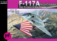 "Набор самолетов ""F-117A Nighthawk Baja Scorpion & Grey Dragon"" (масштаб: 1/144)"
