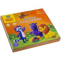 """Пластилин """"Приключения Енота"""" (12 цветов; со стеком)"""