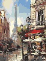 "Картина по номерам ""Парижская прогулка"" (400х500 мм)"