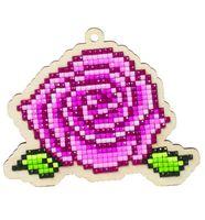 "Алмазная вышивка-мозаика ""Брелок. Роза"" (98х83 мм)"