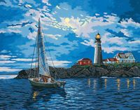 "Картина по номерам ""Сигнальная башня в сумерках"" (410х510 мм; арт. 91322-DMS)"