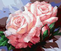"""Картина по номерам """"Нежные розы"""" (400х500 мм)"""
