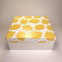 """Подарочная коробка """"Конопатые лимоны"""" (19x19x7,5 см)"""