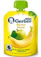 """Детское пюре Gerber """"Яблоко, банан"""" (90 г)"""