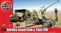 """Набор техники """"Bofors 40mm Gun & Tractor"""" (масштаб: 1/76)"""