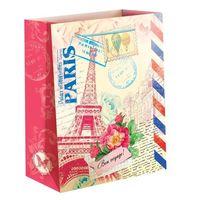 """Пакет бумажный подарочный """"Париж"""" (23х27х8 см; арт. 10733147)"""