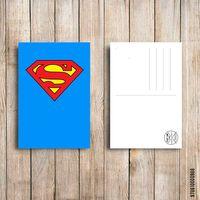 """Открытка """"Супермэн"""" (арт. 988)"""