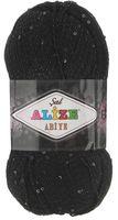 """Пряжа """"ALIZE. Sal Abiye №60"""" (100 г; 410 м; черный)"""