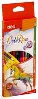 "Набор карандашей цветных ""Color Run"" (12 шт.; 24 цвета)"